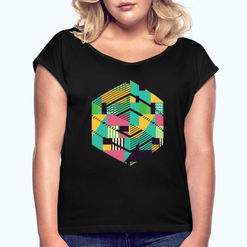 Geometric composition - Women's T-Shirt with rolled up sleeves