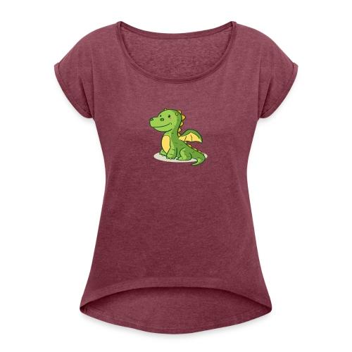 dragon funny - T-shirt à manches retroussées Femme