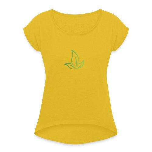 #Ami_nature #écologie - T-shirt à manches retroussées Femme