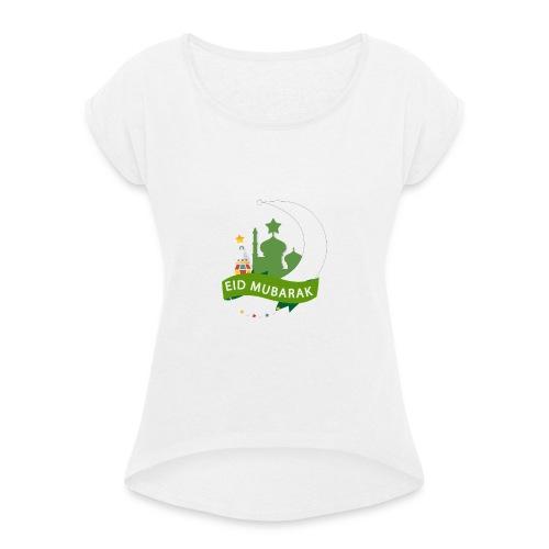 EID MUBARAK , AID SAID - T-shirt à manches retroussées Femme