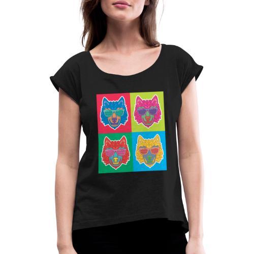 LOUP DESIGN - T-shirt à manches retroussées Femme