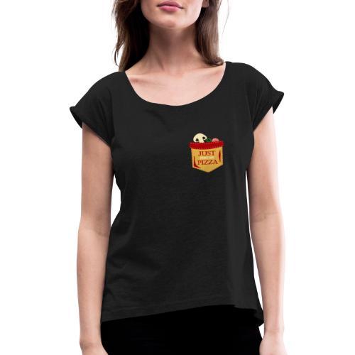 Dammi solo la pizza - Maglietta da donna con risvolti