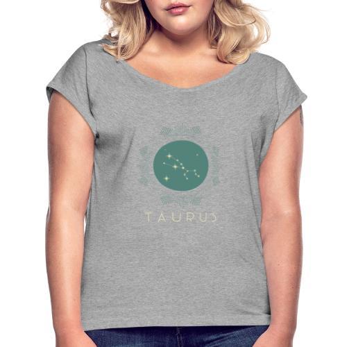 zodiac t shirt design template 1426a - Dame T-shirt med rulleærmer