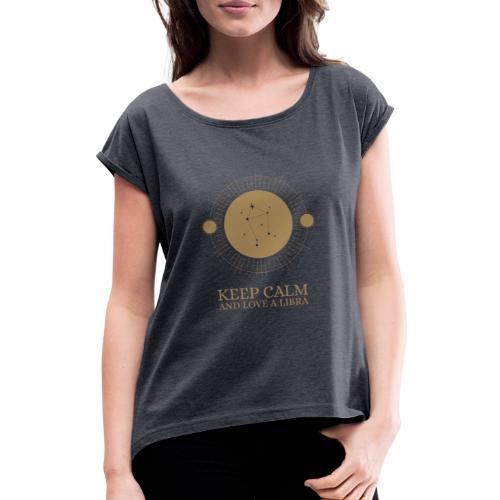 mystic looking zodiac t shirt design template 1426 - Dame T-shirt med rulleærmer