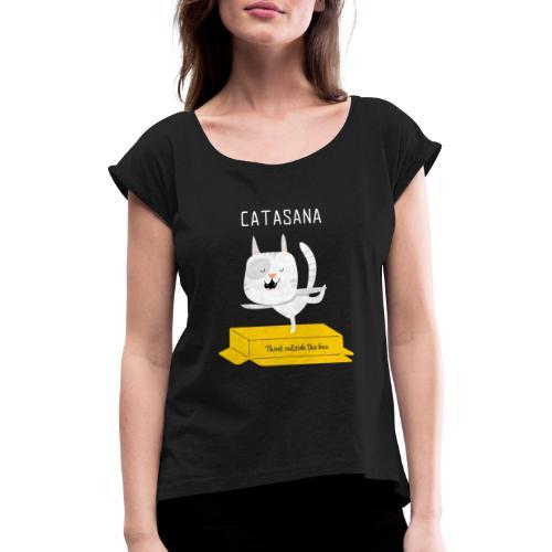 illustrated t shirt design CATASANA - Maglietta da donna con risvolti