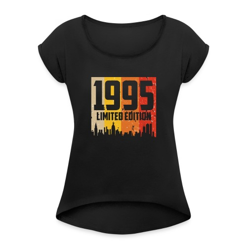 Vintage Geburtstag Limited Edition Jahrgang 1995 - Frauen T-Shirt mit gerollten Ärmeln