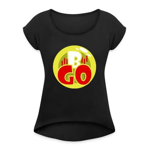 Bovago - Vrouwen T-shirt met opgerolde mouwen