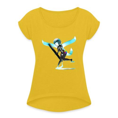 Huion Character O.C. - Maglietta da donna con risvolti