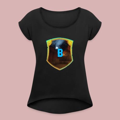 BugCaseLOGO - Frauen T-Shirt mit gerollten Ärmeln
