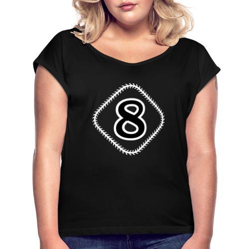 Eighters Diamond - Frauen T-Shirt mit gerollten Ärmeln