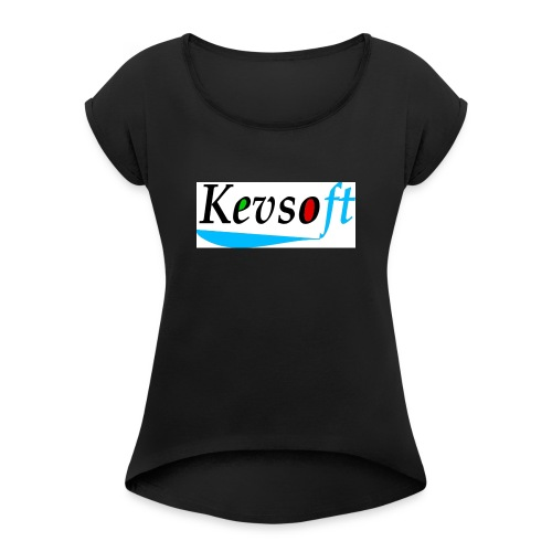 Kevsoft - Women's T-Shirt with rolled up sleeves