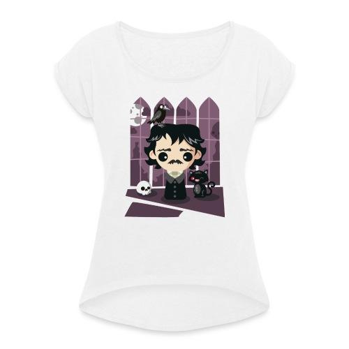 A damned Poe-t's house - Maglietta da donna con risvolti