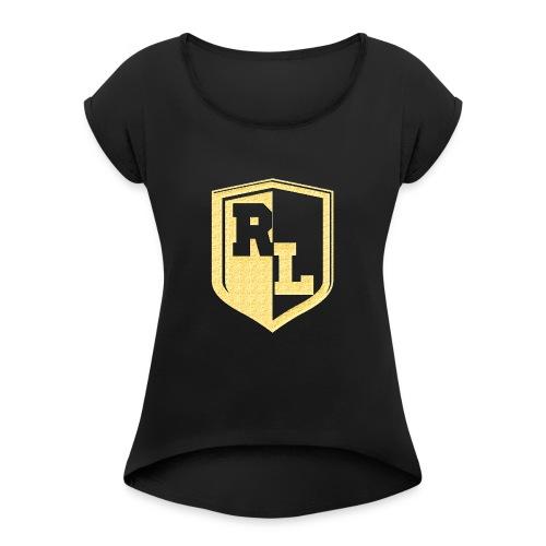 logopourvetementrl - T-shirt à manches retroussées Femme