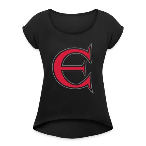 Det store E - Dame T-shirt med rulleærmer