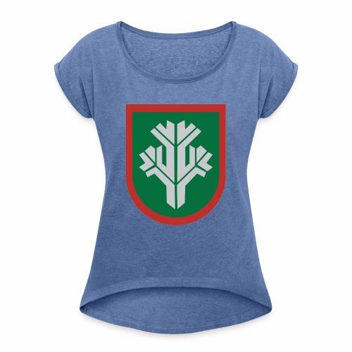 sissi - Naisten T-paita, jossa rullatut hihat