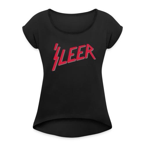 'S LEER – lustige Geschenkidee für Metalfans - Frauen T-Shirt mit gerollten Ärmeln
