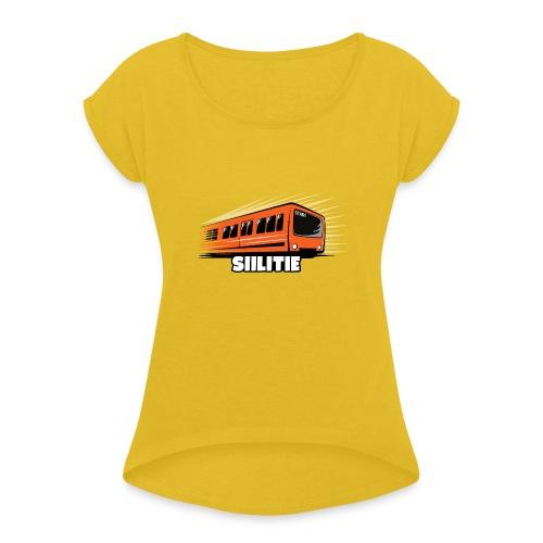 08 - METRO SIILITIE - HELSINKI - LAHJATUOTTEET - Naisten T-paita, jossa rullatut hihat