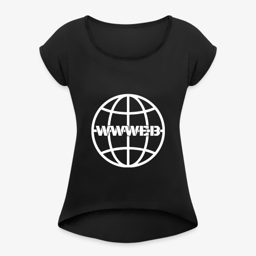 WWWeb (white) - Women's T-Shirt with rolled up sleeves