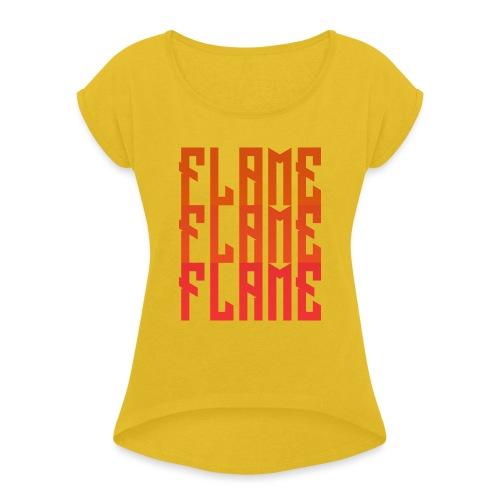 maglietta_flame_flame_flame - Maglietta da donna con risvolti