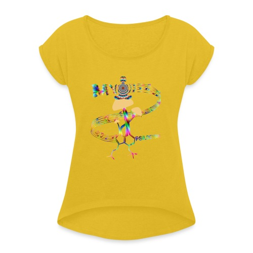 My Psilocybin (Psychadelic) - T-shirt med upprullade ärmar dam