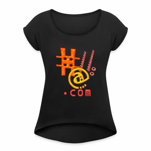 inf c - Camiseta con manga enrollada mujer