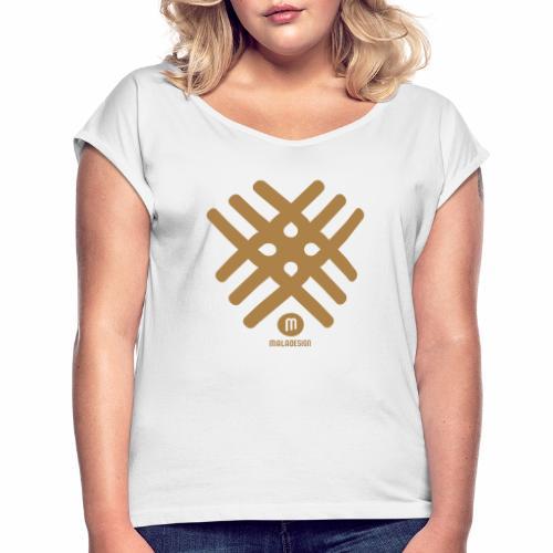 Maladesign - Naisten T-paita, jossa rullatut hihat