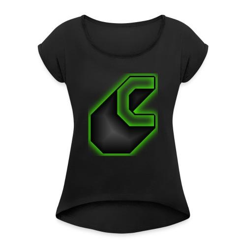 cooltext183647126996434 - Vrouwen T-shirt met opgerolde mouwen