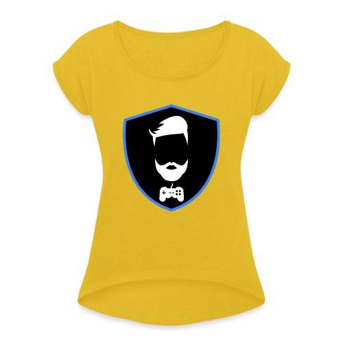 Kalzifertv-logo - Dame T-shirt med rulleærmer