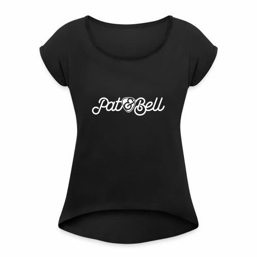 Pat&Bell Logo - Frauen T-Shirt mit gerollten Ärmeln