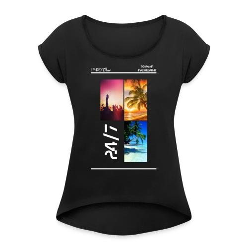 MPCG Crew Summer Party - Frauen T-Shirt mit gerollten Ärmeln