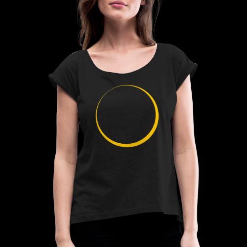 ECLIPSE - Yellow Sun - Maglietta da donna con risvolti