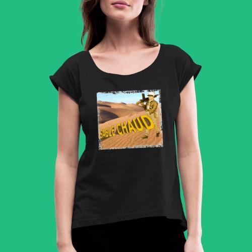 sable chaud - T-shirt à manches retroussées Femme