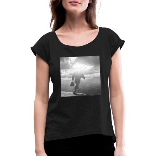 the next step - Frauen T-Shirt mit gerollten Ärmeln