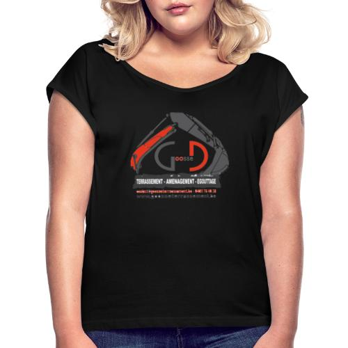 dylan sans fond - T-shirt à manches retroussées Femme