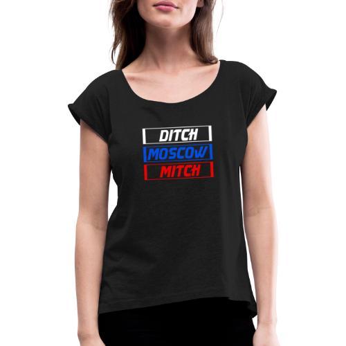 moscow - T-shirt à manches retroussées Femme