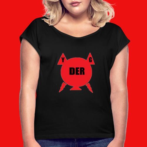 YannickDerGamer - Frauen T-Shirt mit gerollten Ärmeln