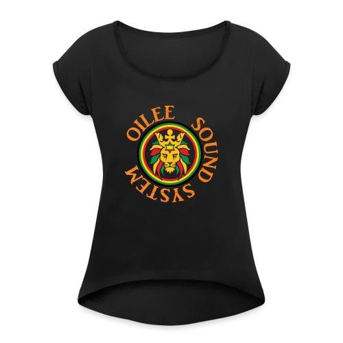 logo oilee sound - T-shirt à manches retroussées Femme