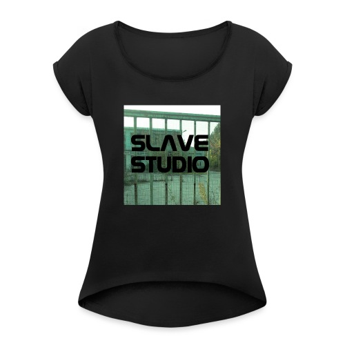 Logo_SLAVE_STUDIO_1518x1572 - Maglietta da donna con risvolti