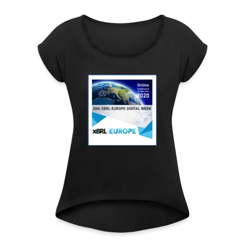 25online - Women's T-Shirt with rolled up sleeves