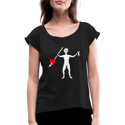 John Quelch Flag - T-shirt à manches retroussées Femme
