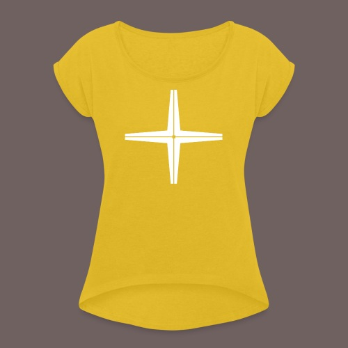 GBIGBO zjebeezjeboo - Rocher - Place au milieu - T-shirt à manches retroussées Femme