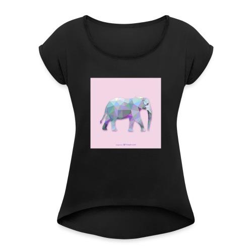 Elefante Intero triangoli - Maglietta da donna con risvolti