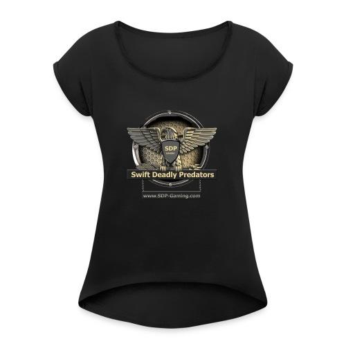 SDP-Gaming.com - Recruiter Shirts - Vrouwen T-shirt met opgerolde mouwen