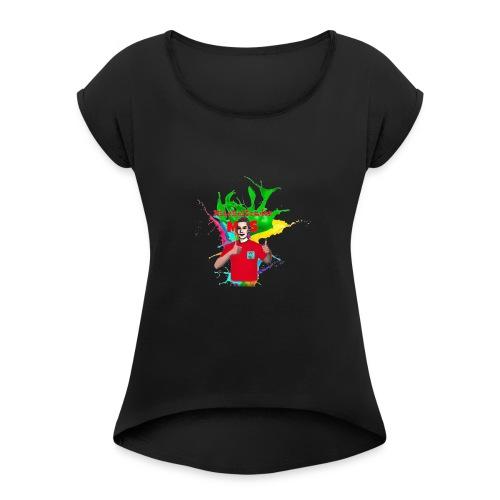 Mitchelsonder Iphonehoesje - Vrouwen T-shirt met opgerolde mouwen
