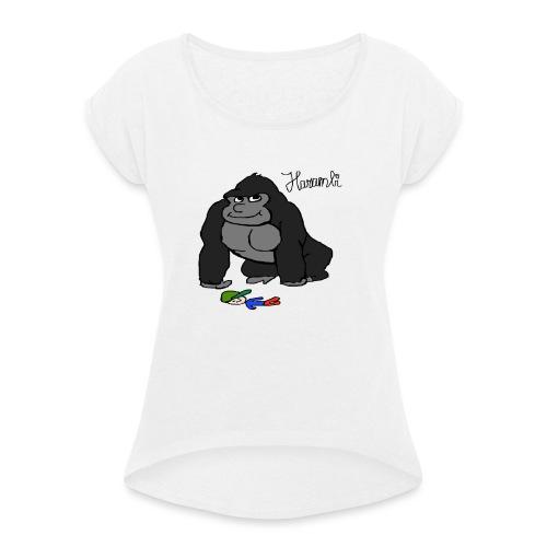 Harambae - Vrouwen T-shirt met opgerolde mouwen