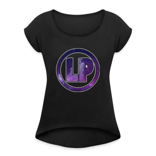 Luxipuff Logo - Dame T-shirt med rulleærmer