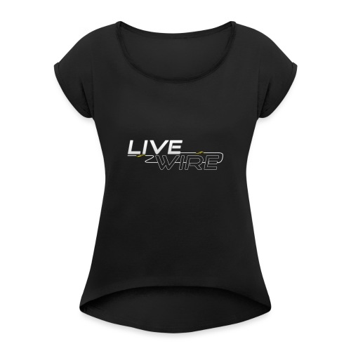 YT_Watermark - Women's T-Shirt with rolled up sleeves