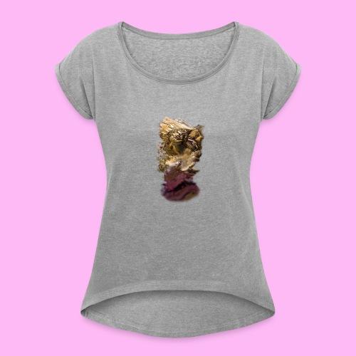 migraine - Naisten T-paita, jossa rullatut hihat