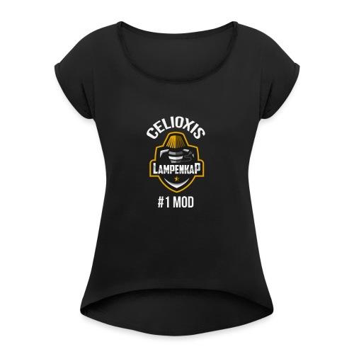 Celioxis Mod Shirt - Vrouwen T-shirt met opgerolde mouwen