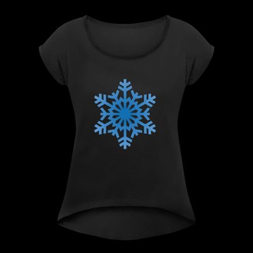 Snowflake - Dame T-shirt med rulleærmer